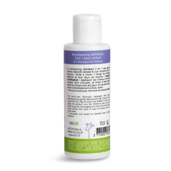 Detangling shampoo 2 in 1 travel size 55 ml